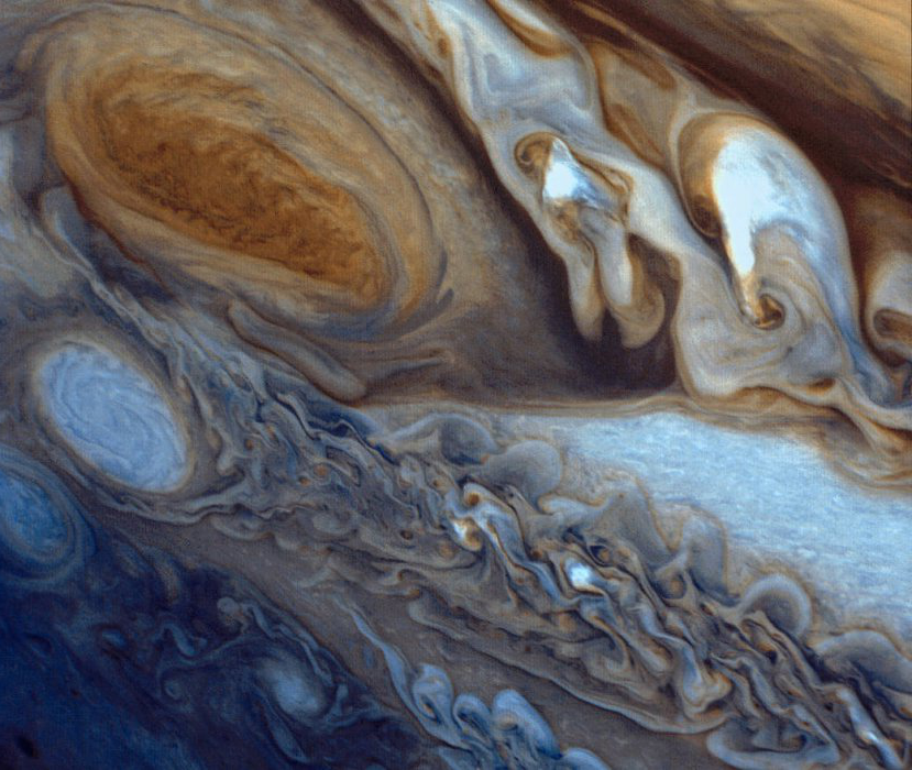 Close-up of Jupiter's Great Red Spot